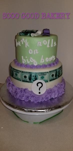 Gender reveal cakes are a sweet surprise at any gathering.